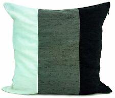 Grande Cuscini Set di 4 Ciniglia 3 colorazioni nera/grigio/bianco pieno