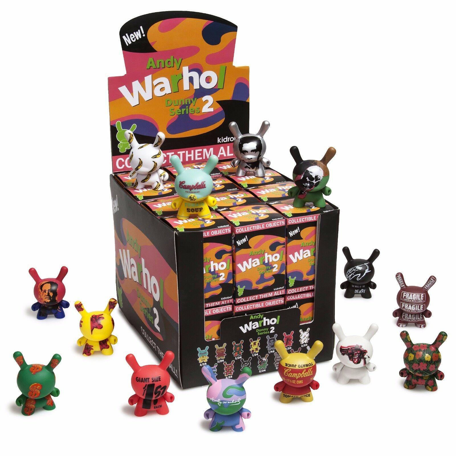 Kidrobot DUNNY 2017 ANDY WARHOL SERIES 2 SEALED CASE