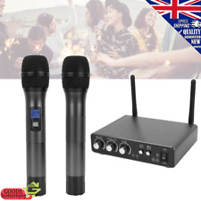 Gemini UHF-02M 2-Channel Wireless Dual Mic Handheld Microphone System S12