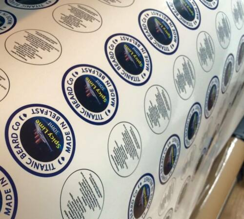 Custom Printed Vinyl Stickers Decals Labels cut to shape