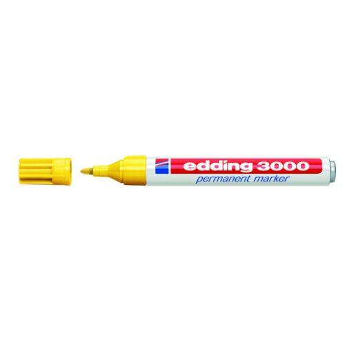EDDING 3000 Permanentmarker 1,5-3mm verschiedene Farben Rot Schwarz Blau Gelb