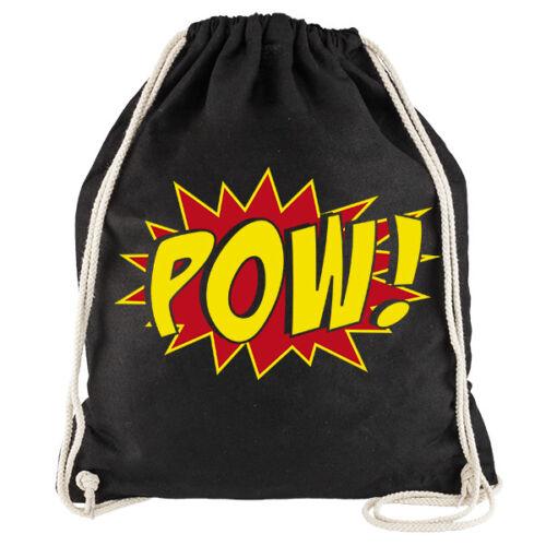 """60er Pang Bam Zapp Nukular Turnbeutel Motiv  /""""POW!/"""" für Fans von Batman Comics"""