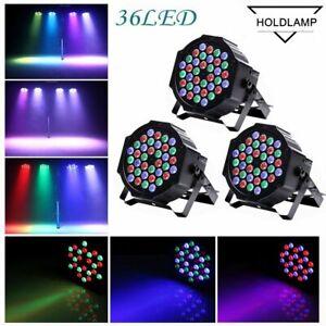 3PCS 80W RGB 36 LED Par Stage Light DMX512 DJ Disco Wedding Uplighting HOLDLAMP