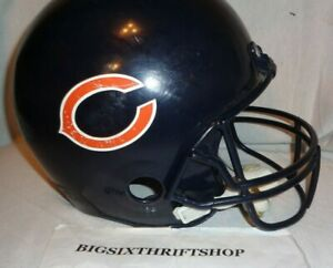 407911b1 Details about Franklin Chicago Bears Plastic Kids Youth Football Helmet  Replica NFL Play