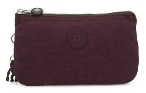 Dark Plum Kipling CREATIVITY L Large Purse