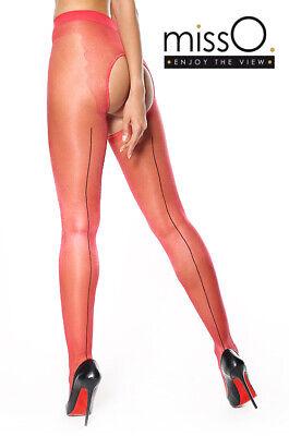 Corpino Bikini S//M P211 Collant NUDO con Riga NERA e Larga Apertura al Pube