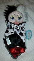 Disney Parks Disney Babies Cruella Deville 10 Plush 101 Dalmatians W/ Tags