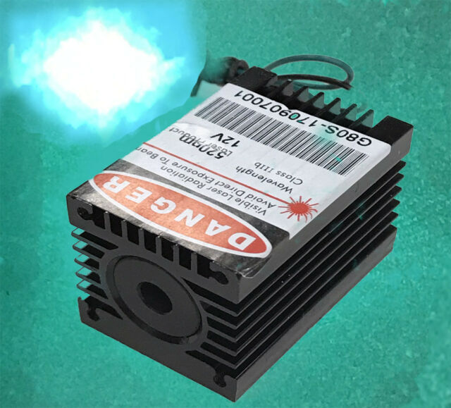 520nm 100mW Green Laser Diode Module/TTL Modulation/12V Power input