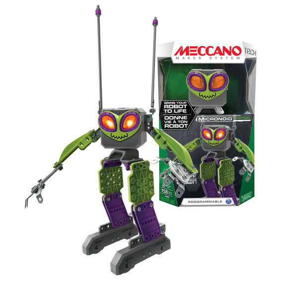 Meccano Micronoid Green Switch Interactive Programmable Robot -BRAND NEW & Boxed