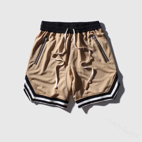 Mens Casual Drawstring Shorts Men Hip Hop Mesh Gym Sports Basketball Sweatshorts