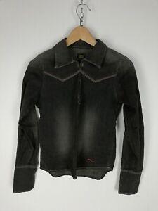 LEE-Camicia-di-JEANS-Shirt-Maglia-Chemise-Hemd-Tg-M-Woman-Donna