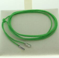 Authentic Pandora 390961CGN-100 cm Green Cord Necklace With Sterling Silver Tips