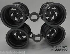 Tamiya 0445720 Wheel Rim (Set of 4) Twin Detonator Double Blaze Blackfoot Xtreme