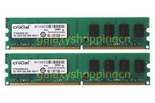Crucial 4GB 2X 2GB PC2-6400 DDR2-800MHz 2RX8 240PIN DIMM Desktop Memory RAM CL6