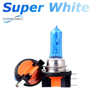 2-x-H15-15-55W-SUPER-WHITE-XENON-UPGRADE-HEADLIGHT-BULBS-ERROR-FREE-12v-DRL-C