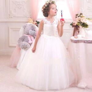 811d1d8aab3 2018 Kids Flower Girl Bow Princess Dress Girls Party Wedding ...