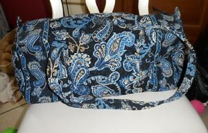 Vera bradley small duffel bag in retired Windsor Navy Pattern