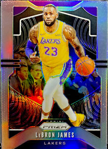 🔥 LEBRON JAMES 2019-20 Panini Prizm Silver REFRACTOR #129 Clean CENTERED Lakers