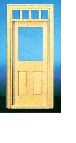 Dollhouse Miniatures 1:12 Scale Traditional Window Door with Window #CLA76018