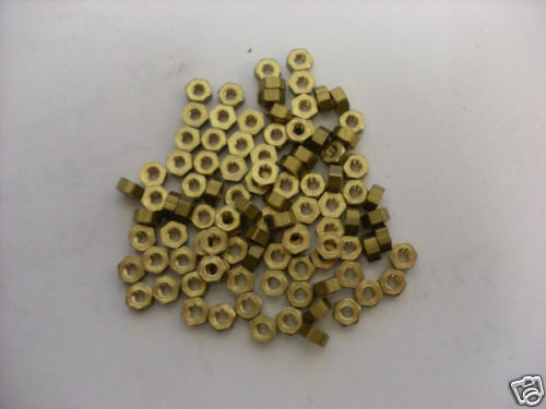 5 BA Brass Nuts pack of 50