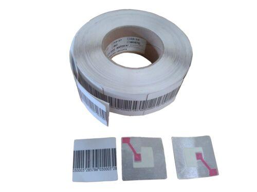 RF Klebeetiketten 3x4 dummy barcode 8.2MHz Warensicherung 1 Rolle = 1000 St