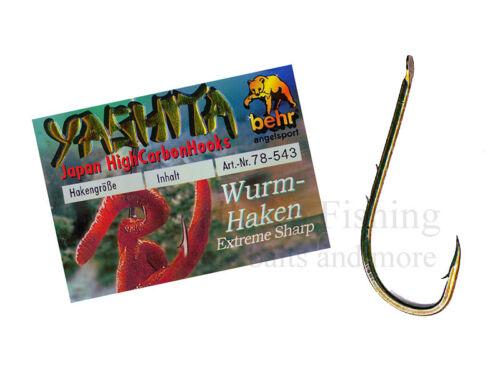 Behr fishing yashita wurmhaken anguille perche crochet Brüniert non lié