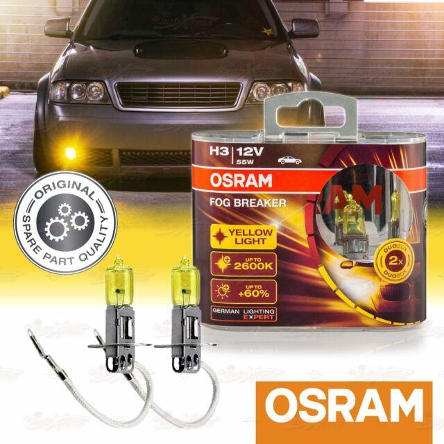 2x H7 477 OSRAM Fog Breaker DuoBox YELLOW Spot Bulbs 2600K Lamps for FRONT FOG