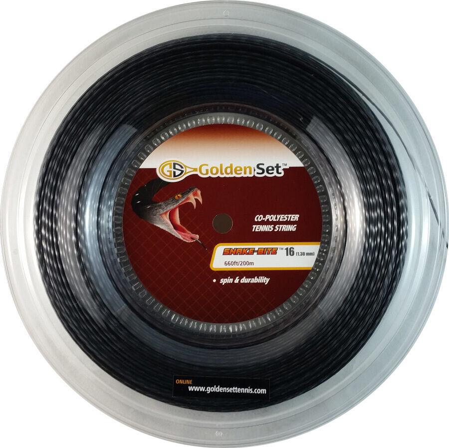 GSI Snake-Bite 16 schwarz tennis string - 660ft Reel