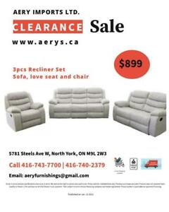 Furniture Sale! Recliner, Sectionals, Sofa, Sofa Bed   WEBSITE https://aerys.ca call 416-743-7700, 416-740-2379 Toronto (GTA) Preview