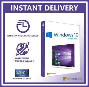 MICROSOFT-Windows-10-PRO-Professional-32-64bit-originale-della-Licenza-Chiave-Codice-prodotto