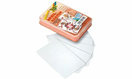 36 Karten weiß 65 x 100 mm folia Blanko-Spielkarten
