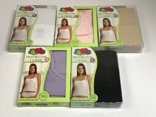 Womens Fruit of the Loom 100/% Cotton Cami U Pick Size and Color