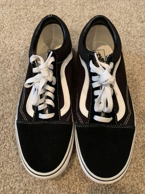 Vans Old Skool Skateboard Classic Black White Mens Womens Sneakers Tennis Shoes