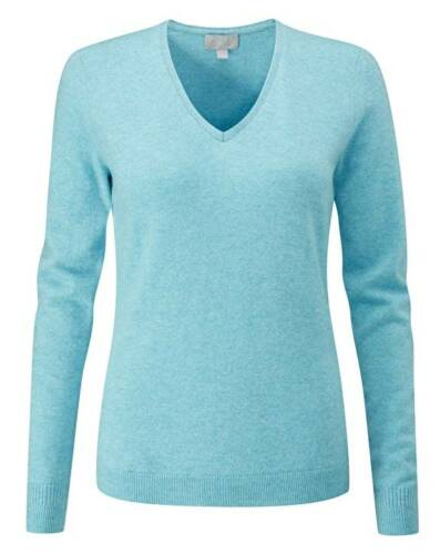 Collection 10 Uk Neck Rrp Original Pure Sweater £115 Fit V Ocean Blue 4WUZUwBxqd