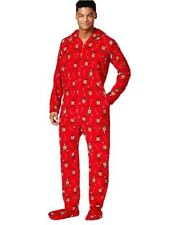fc23f3d1c7 Family PJs Christmas Fleece Kids Reindeer Footie Pajamas Size 10-12 ...