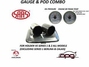 Gauge Dash Pod Gauge Package for Holden VE Omega SV6 Series 1/2 Oil Temp & Press