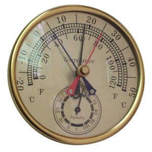 Min Max Thermometer Hygrometer Wall Mount Hanging Analog Temperature Humidity
