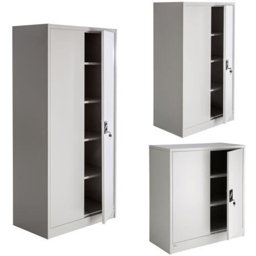 CHARON Büro Schrank Aktenschrank mit 2 Türen Eiche Sonoma Dekor Weiß B68 H198