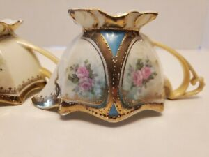 GORGEOUS-RARE-RS-PRUSSIA-CREAMER-amp-SUGAR-MARKED-GOLD-TRIM