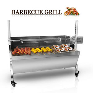 Stainless-Steel-Goat-Pig-Chicken-BBQ-Spit-Rotisserie-Roaster-w-Electric-Motor
