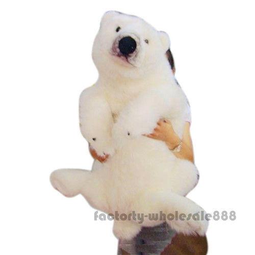 39'' Giant Big Polar Bear Plush Soft Toys Doll Stuffed Animals Birthday Gift Hot