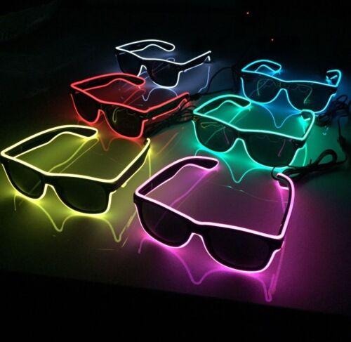 9 Colori disponibili Occhiali Costume Cool Occhiali Da Sole Luce Lampeggiante al neon