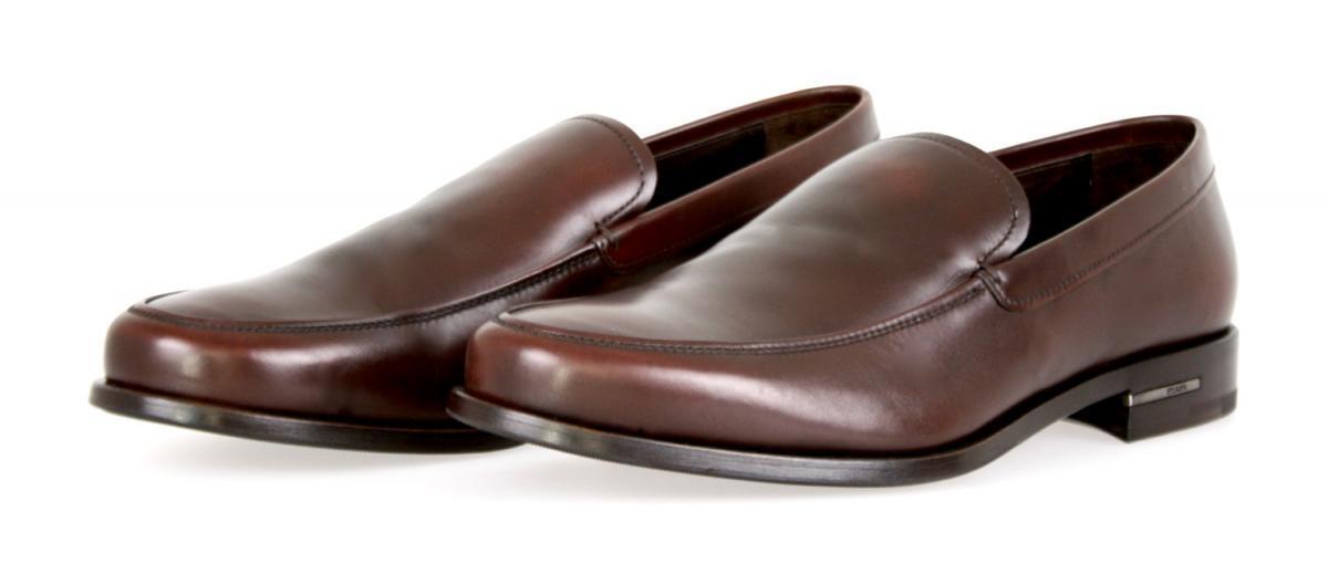 AUTHENTIC LUXURY PRADA SLIPPER scarpe 2DB076 TEAK NEW US 9 EU 42 42,5
