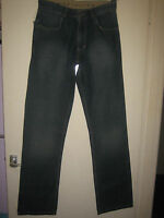 C8 ) ( NEW ) MENS DESIGNER HAFT U.S.A  BLUE STRAIGHT FIT JEANS  W 30L LEG 36