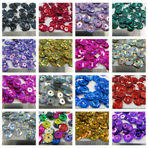 7mm-ROUND-CUPPED-HOLOGRAPHIC-SEQUINS-19-COLOURS-SEWING-CARD-CRAFTS-CONFETTI