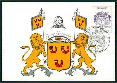 Belgien Mk 1977 FÜrstentum Overijse Wappen Hornes Maximumkarte Mc Cm Dz81 Reinigen Der MundhöHle. Europa Briefmarken