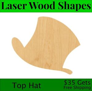 Unfinished Rain Drop Laser Cut Out Wood Shape Craft Supply