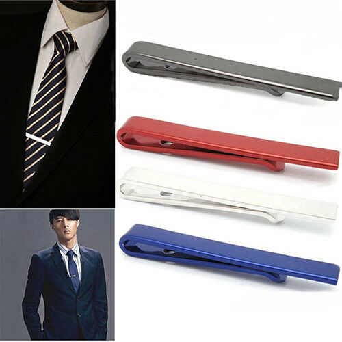 QA/_ EG/_ MEN SIMPLE NECKTIE TIE BAR CLASP CLIP CLAMP PIN WEDDING BUSINESS GIFT