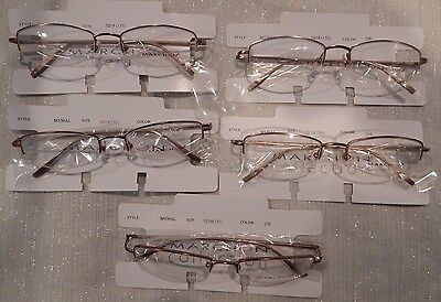 Marchon M550AL Black 5 pc 001 52//18 Semi Rimless Eyeglass Frame Lot NOS #170