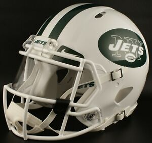 ab34fb5e Details about NEW YORK JETS NFL Authentic GAMEDAY Football Helmet w/ NIKE  Eye Shield